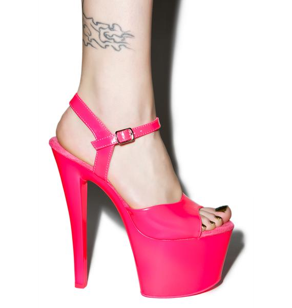 Pleaser Neon Sky Glow In The Dark Platform Heels
