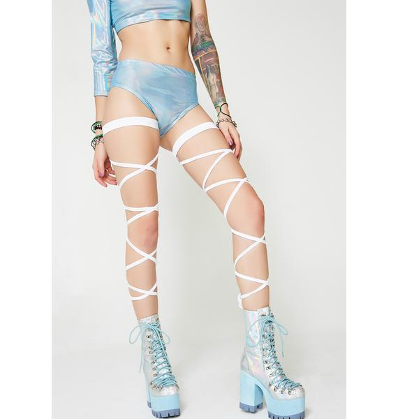 J Valentine Iced In Light-Up Leg Wraps