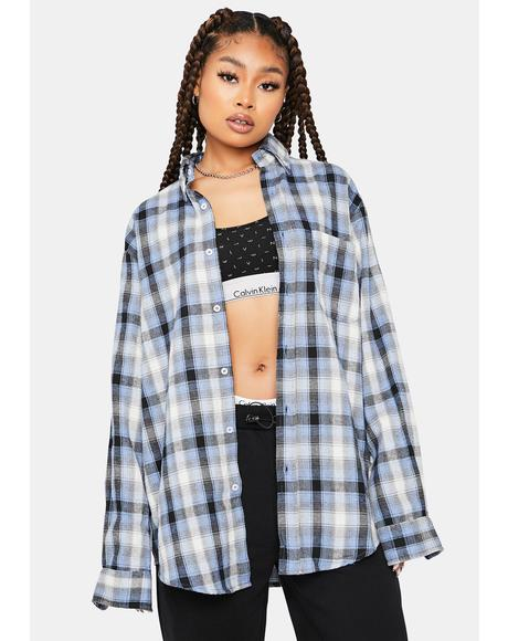 Cool Drama Diaries Long Sleeve Flannel Shirt