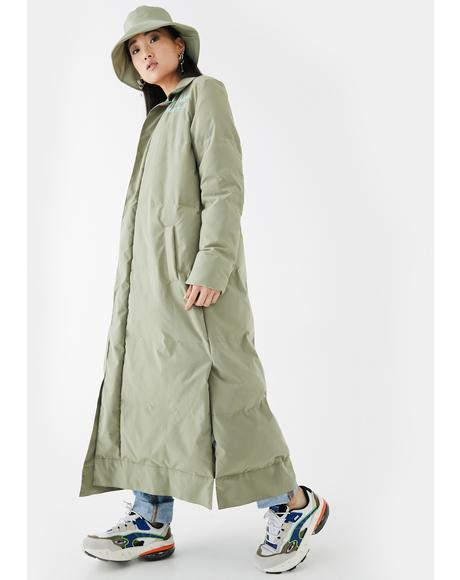 Puffer Pocket Belt Floor Coat