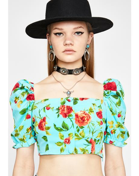 Flourishin' Flirt Crop Top