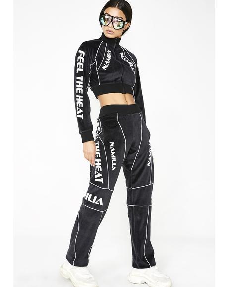 Dark Velour Motocross Trousers