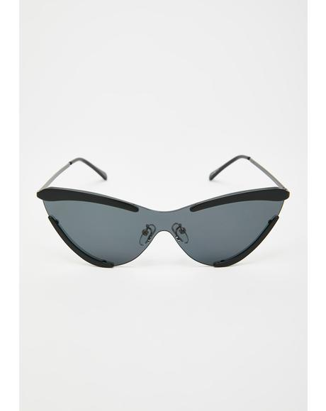 Night Model Behavior Cat-Eye Sunglasses