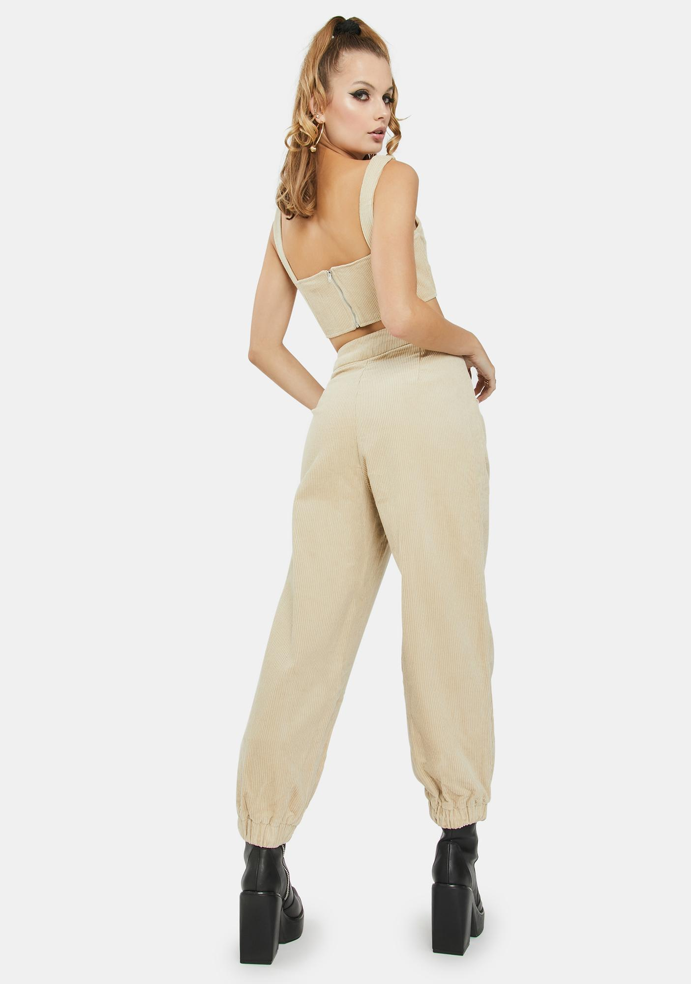 Glamorous Stone Straight Leg Trousers