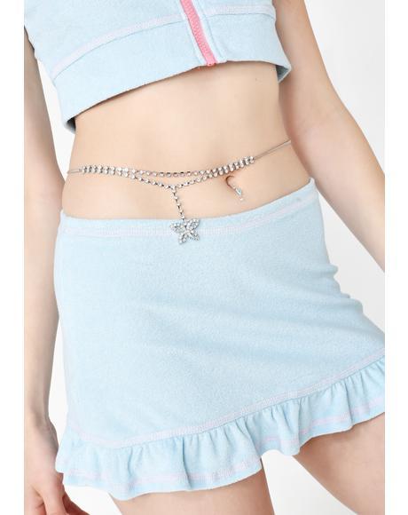Pix Please Rhinestone Belly Chain