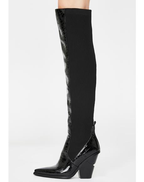 Hail Over The Knee Boots