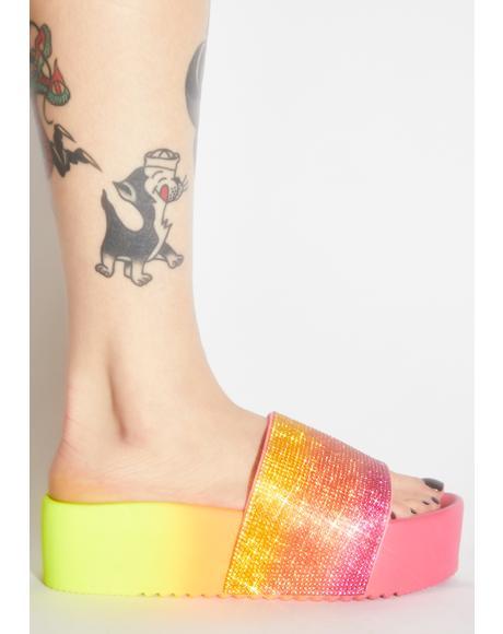Juicy Bling 'Em Out Slide Sandals