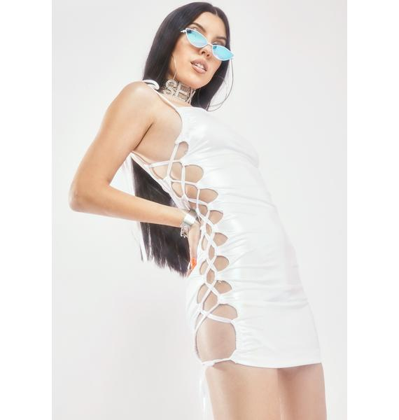 In Your Dreams Lace Up Dress
