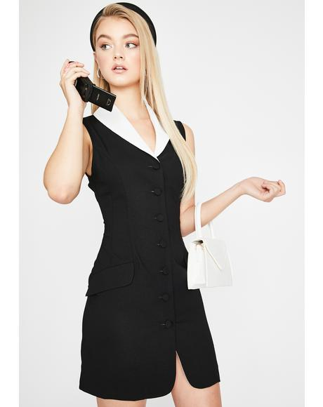Legally Cute Blazer Dress