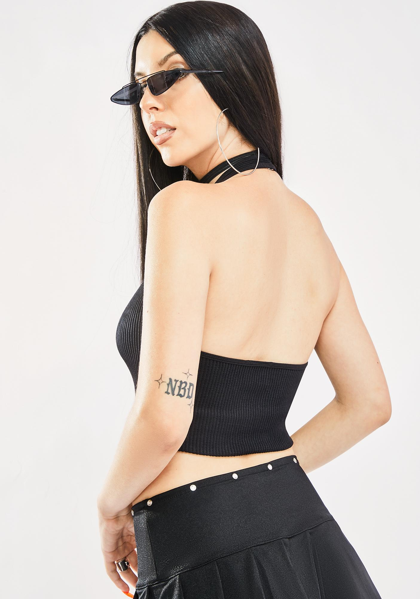 Ink Eyes On Me Halter Top