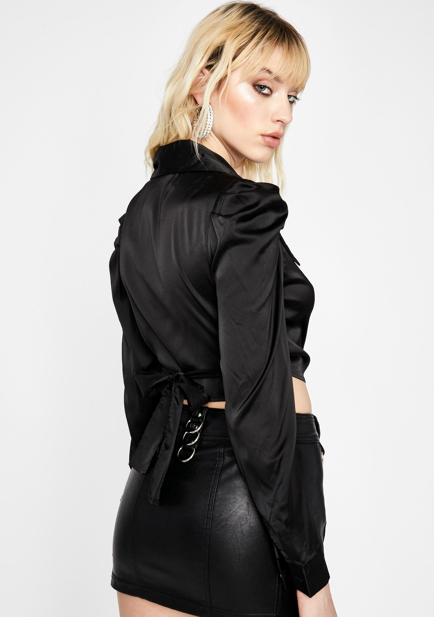 Blackout Tempered Lux Satin Shirt