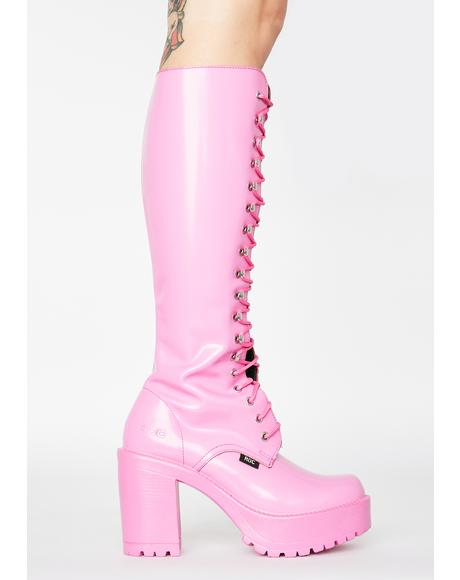 Pink Lash Boots