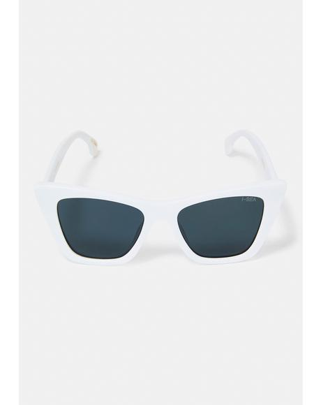 White Ashbury Cat-Eye Sunglasses