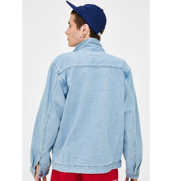 XLARGE Embroidery Zipped Denim Jacket