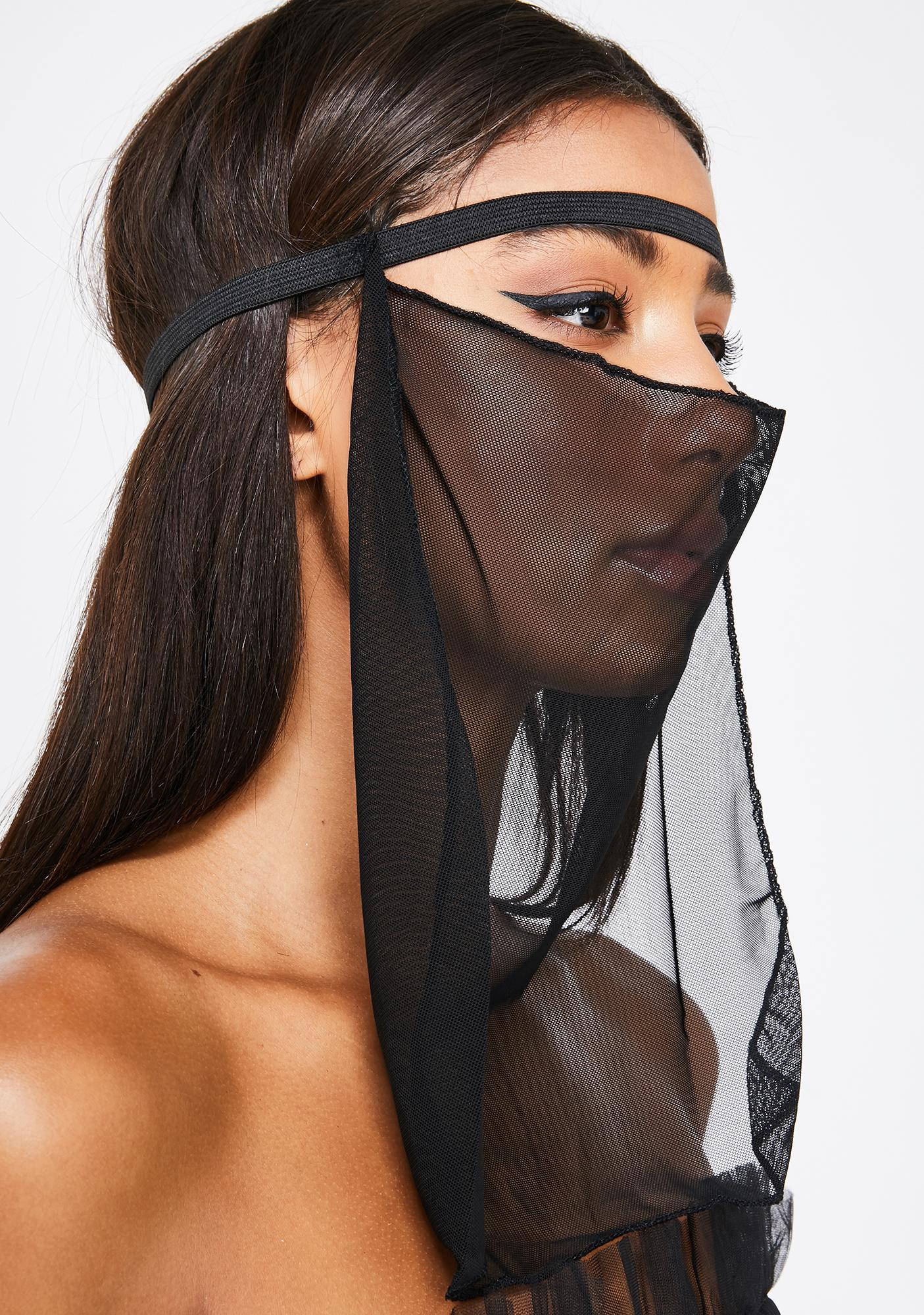 Mourning Dahlia Sheer Dust Mask