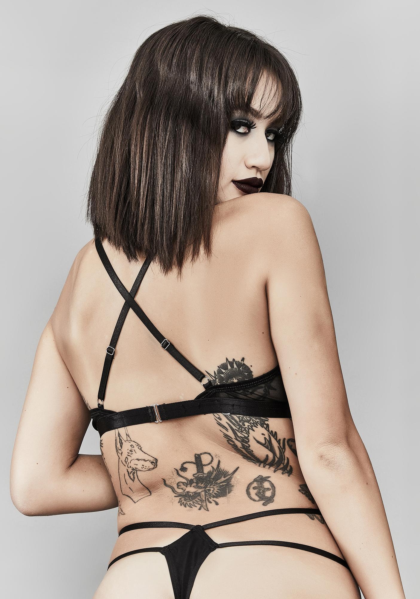 Widow Cryptic Symbols Thong Set