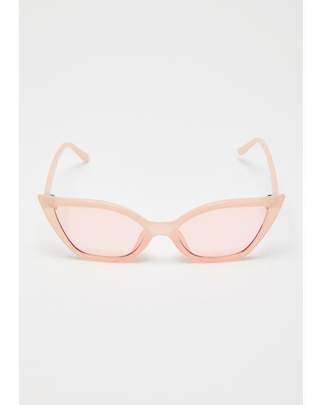 Sassy Side Eye Cat-Eye Sunglasses