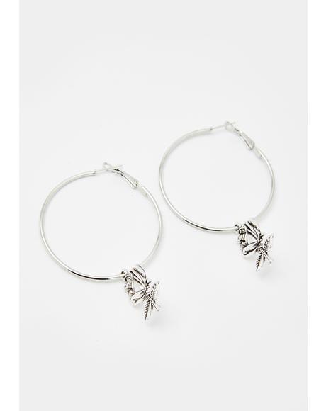 Adorned In Thorns Hoop Earrings