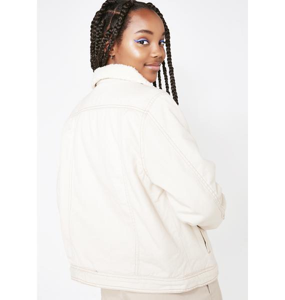 Dickies Girl Sherpa Lined Denim Jacket