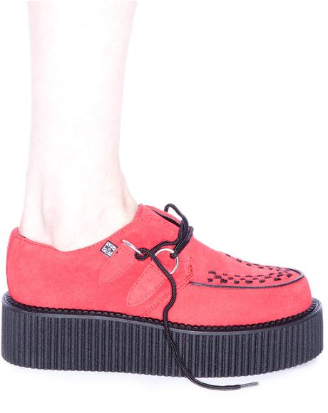 Red Suede Mondo Creeper