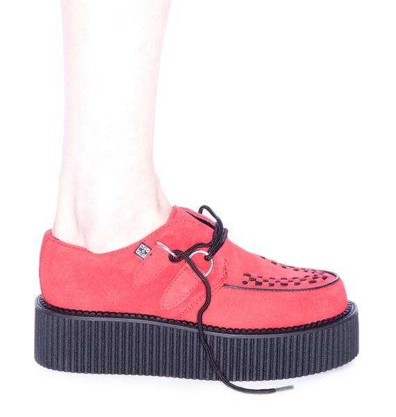 T.U.K. Red Suede Mondo Creeper
