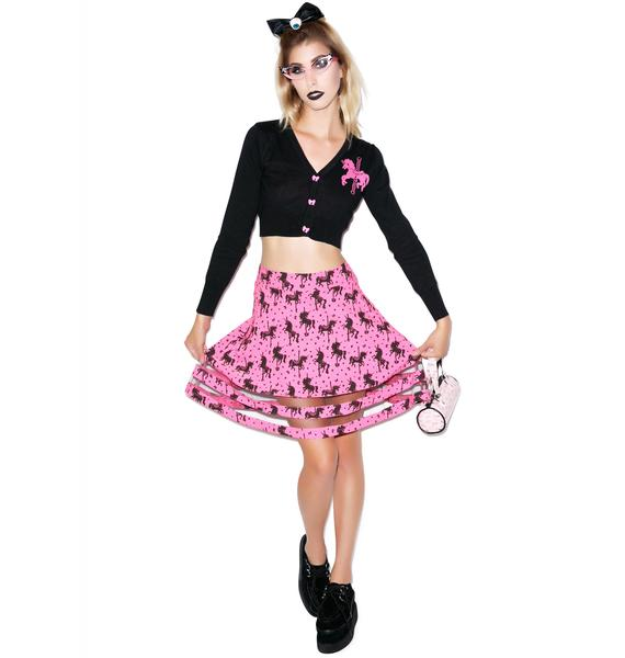 Too Fast Unicorn Carousel Ginned Up Skirt
