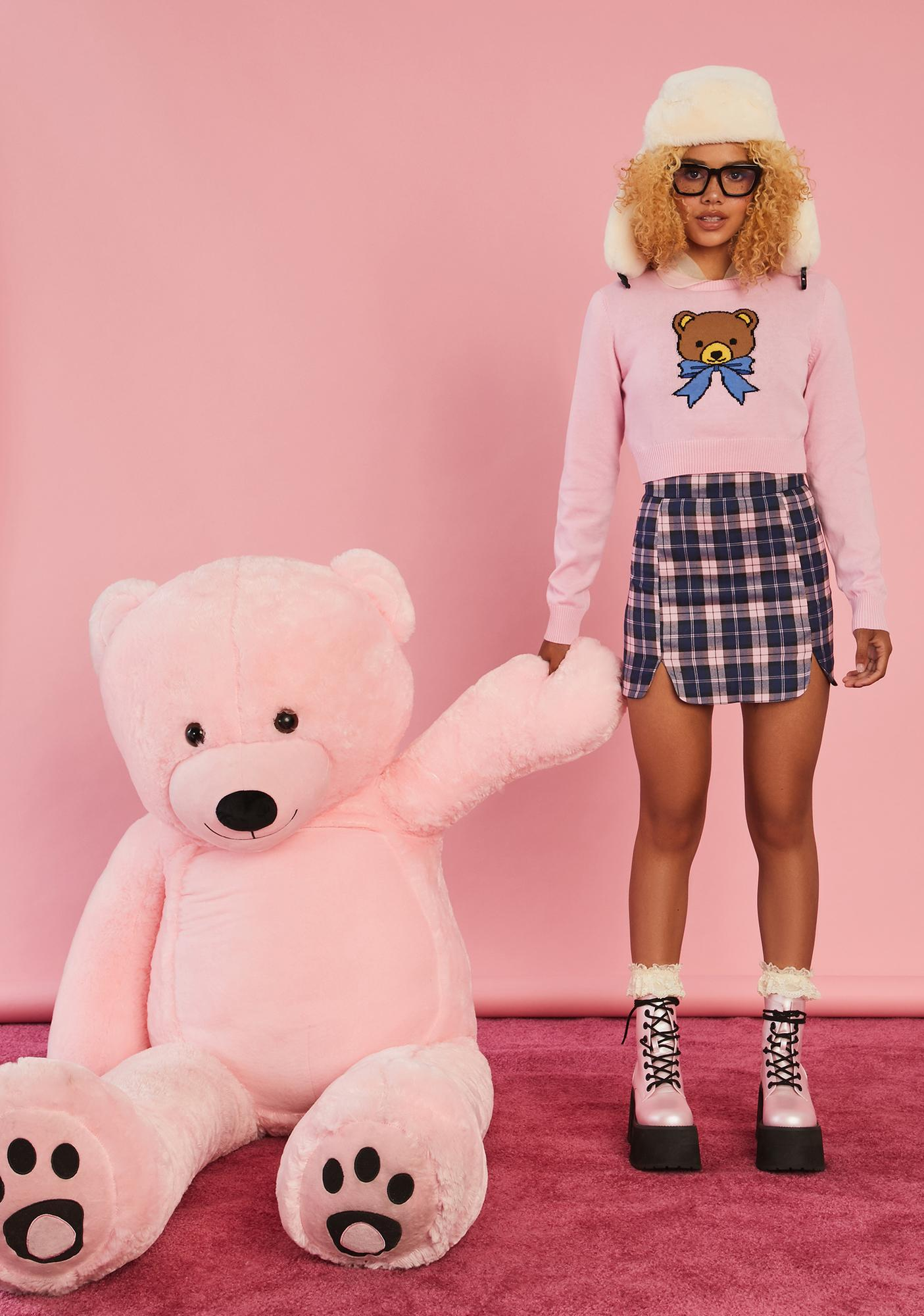 Sugar Thrillz Huggable Honey Cropped Sweater