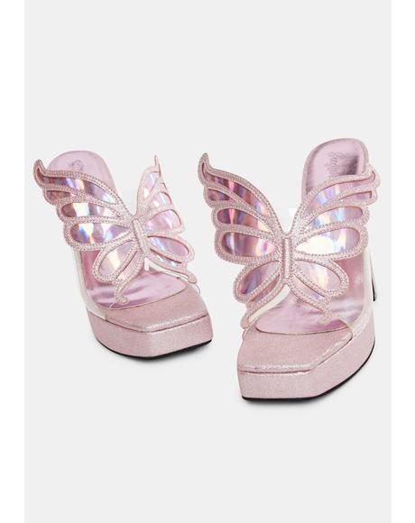 Majestic Pixie Glitter Heels