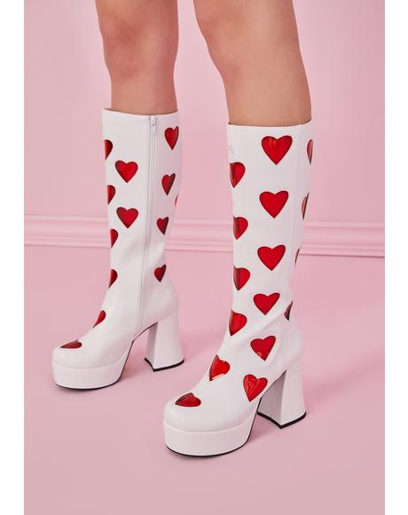 Cherry Retro Romance Go Go Boots