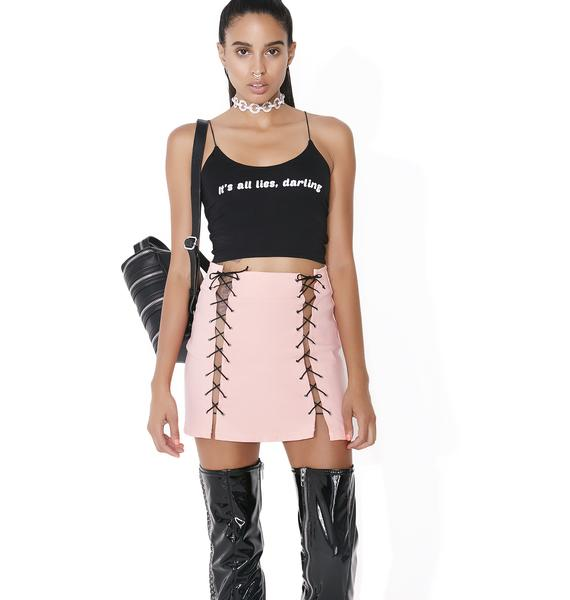 O Mighty Xtina Lace-Up Skirt