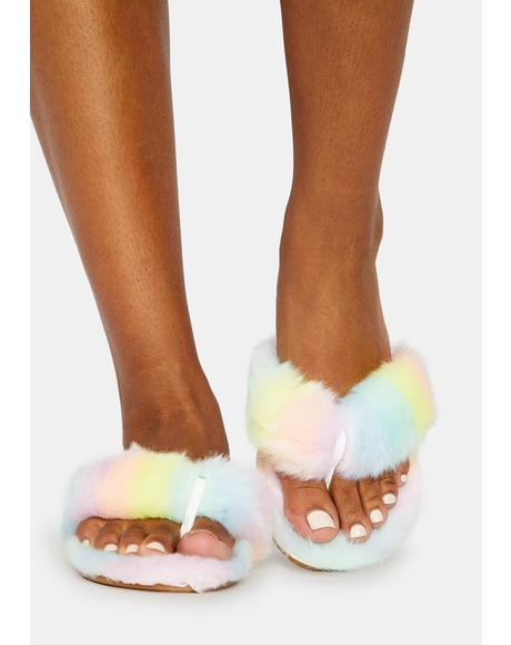 Sunrise Chance Of Cuddles Fuzzy Slippers
