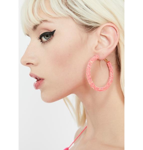 Candy Sassy Sparkle Hoop Earrings