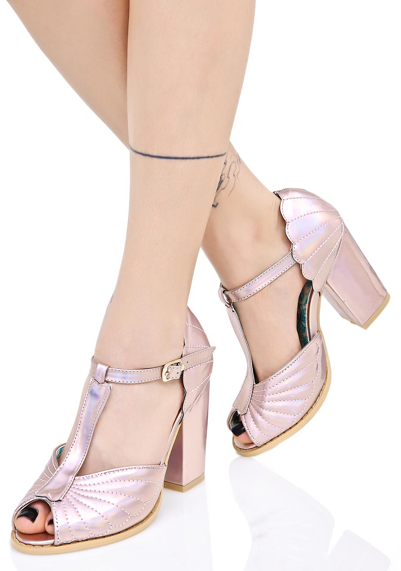 58659b79455 Iron Fist Mother Of Pearl Heels