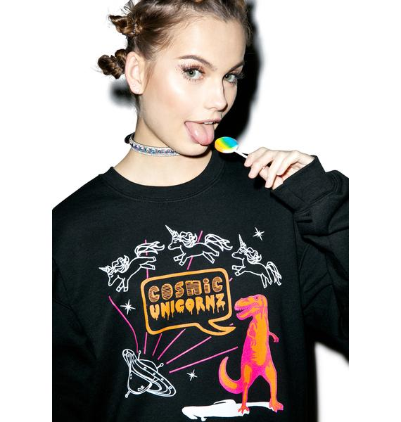 Cosmic Unicornz Unicornz In Space Sweatshirt
