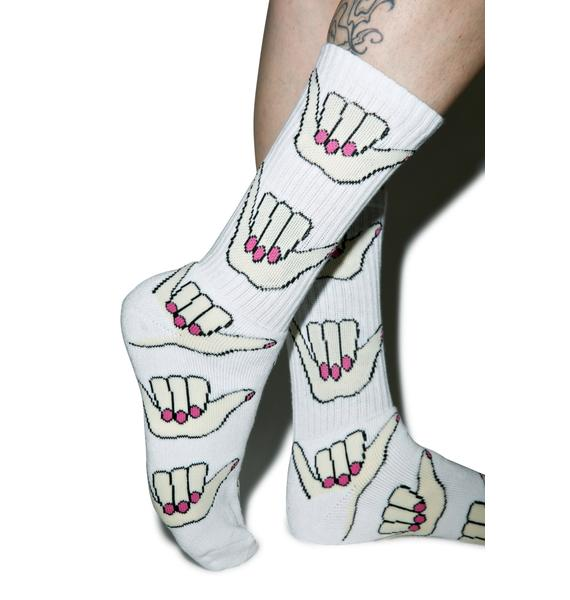 HUF Anne Freeman Shaka Crew Socks