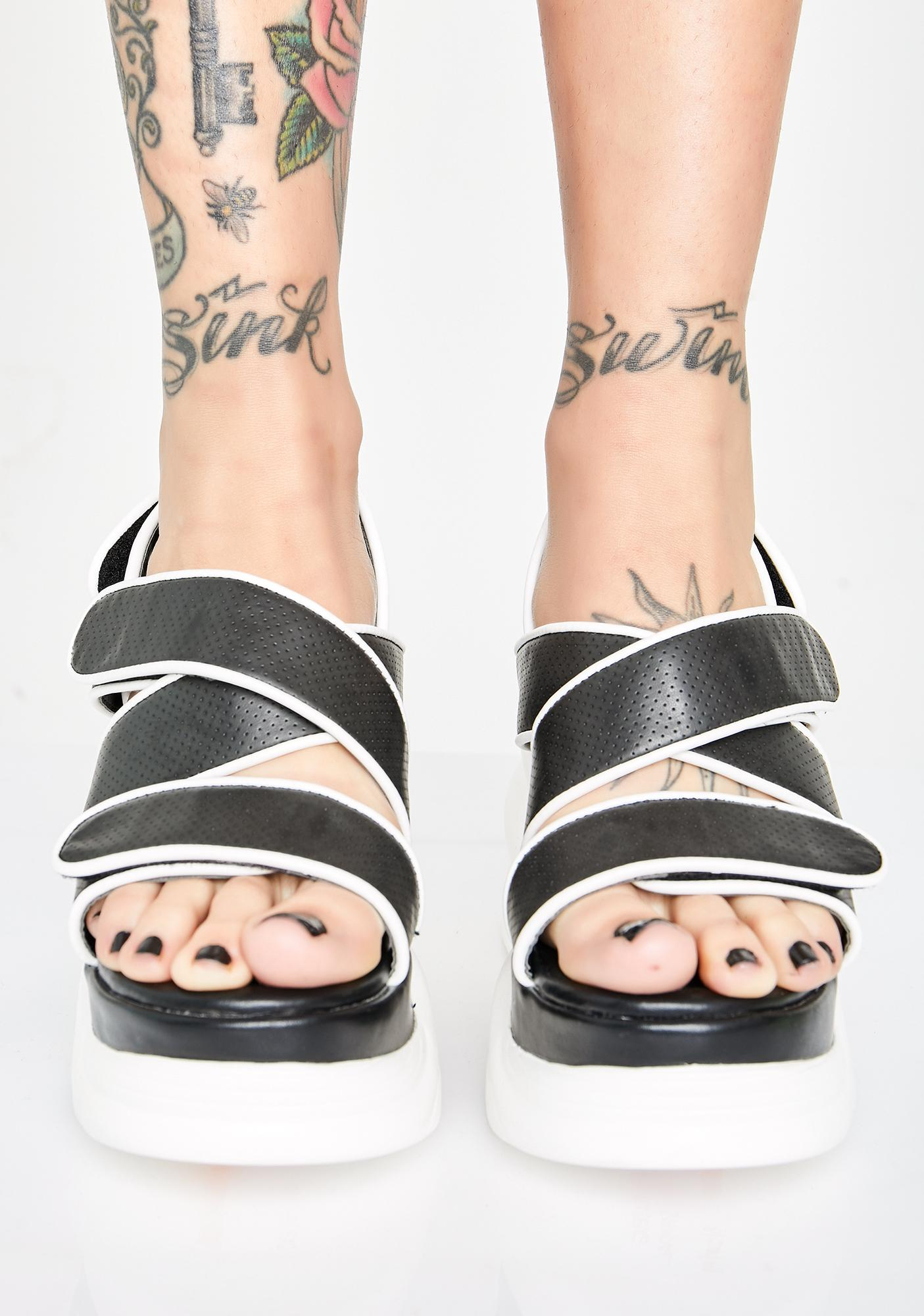 dELiA*s by Dolls Kill Girl Meets World Platform Sandals