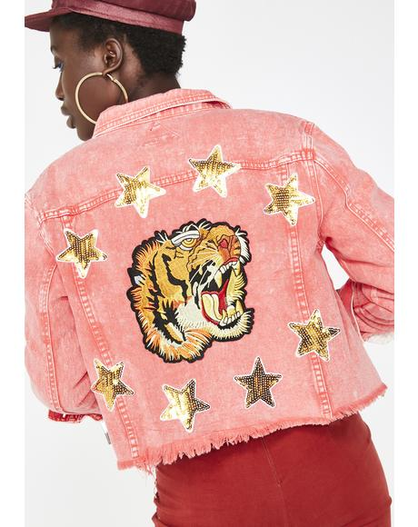Bitter Taiga Embroidered Denim Jacket