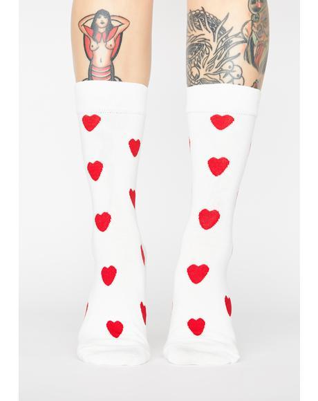 Sweet Valentine Heart Socks