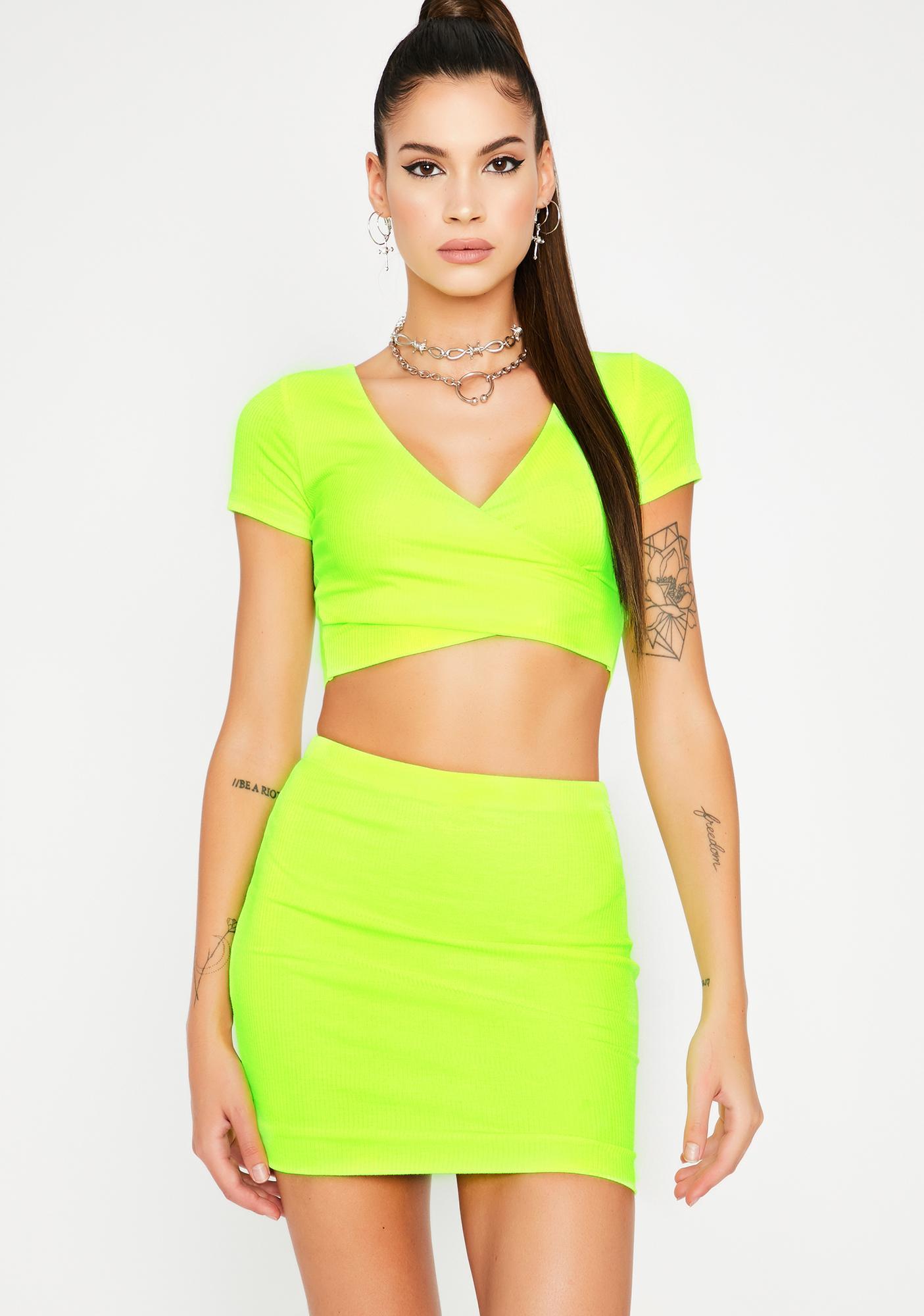 Slime Lowkey Thottie Skirt Set