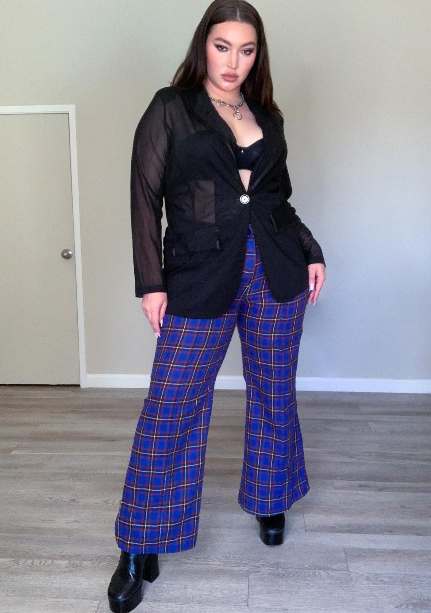 Deep Stay On Repeat Plaid Pants