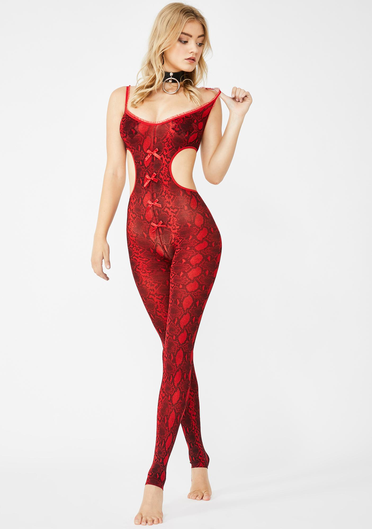 Passionate Python Cut-Out Bodystocking