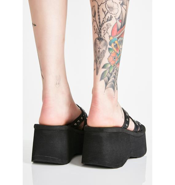 Demonia Goth Beach Platform Sandals