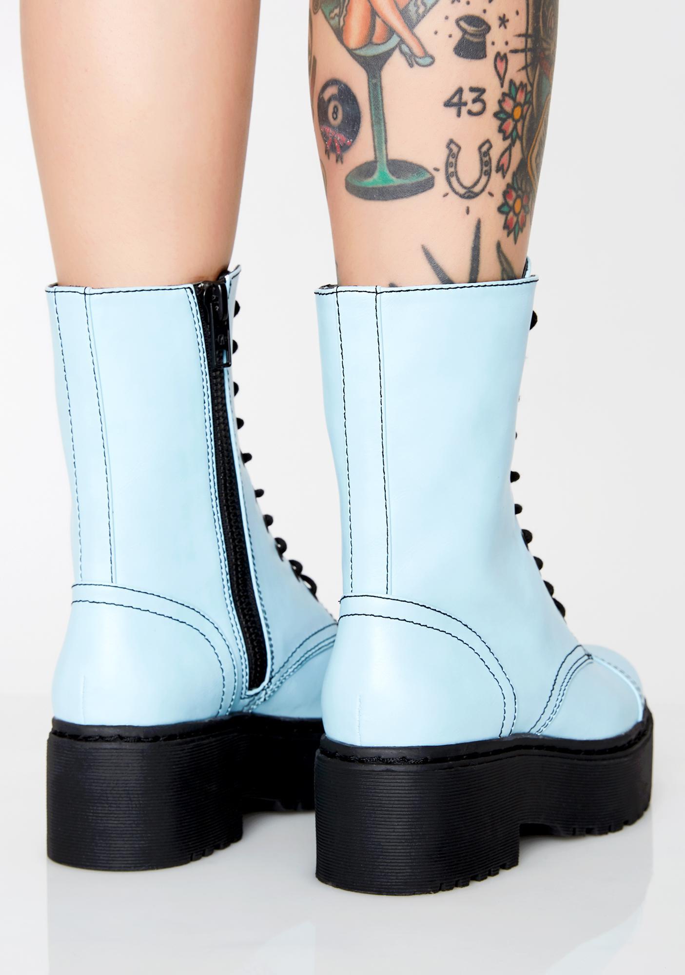 Current Mood Did I Ask You Combat Boots