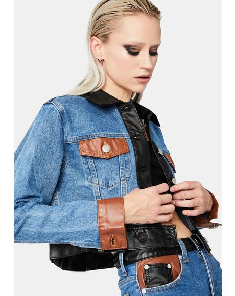 Tough Luck Babe Crop Denim Jacket