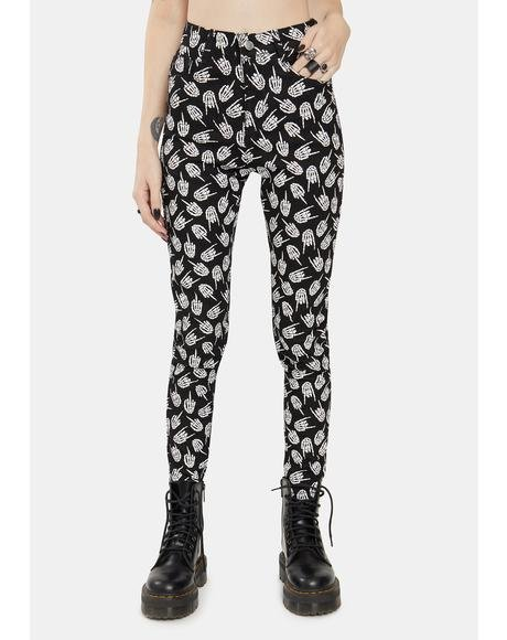 Up Yours Skeleton Skinny Jeans