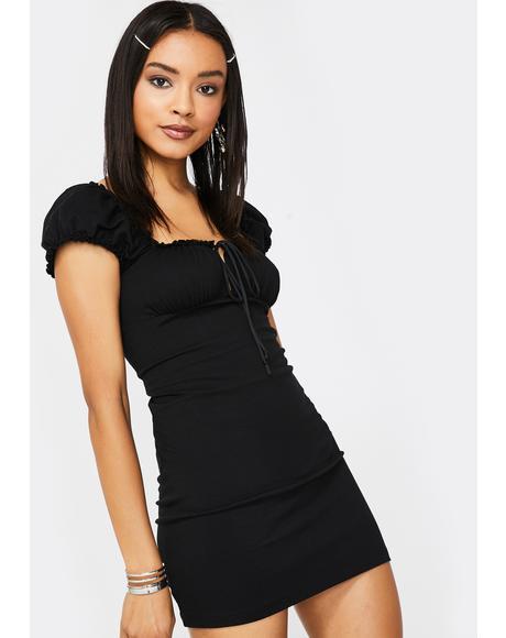 Black Gaina Mini Dress