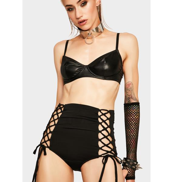 Dainty Domme Lace Up Shorts