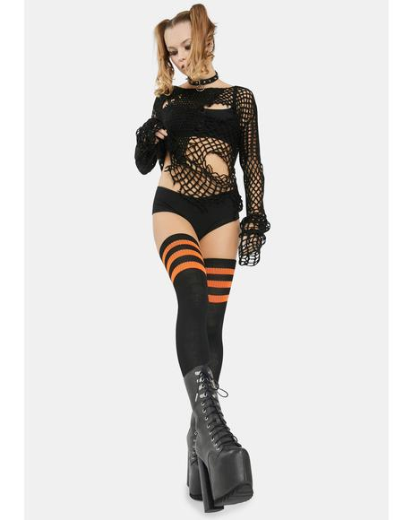 Autumn Rack 'Em Up Athletic Thigh Highs