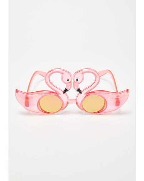 Mingle Time Flamingo Sunglasses
