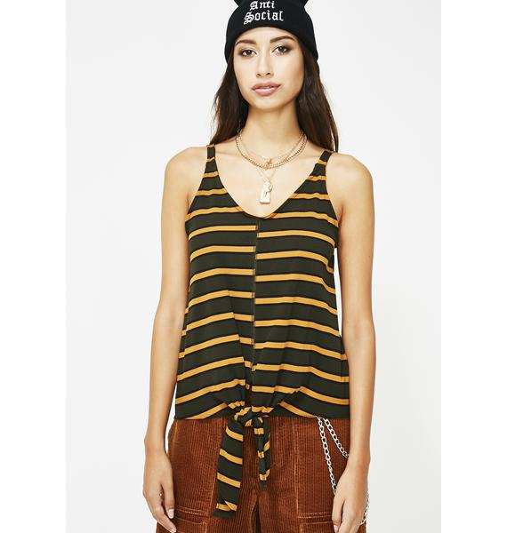 Risky Behavior Stripe Tank